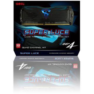 16GB GeIL Super Luce schwarz LED weiß DDR4-3400 DIMM CL16 Quad