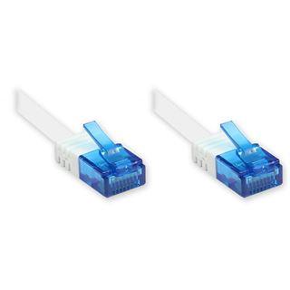 0.50m Good Connections Cat. 6a Patchkabel flach U/UTP RJ45 Stecker