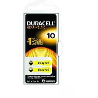 Duracell Hearing Aid DA10 Zink-Luft Knopfzellen Batterie 1.4 V 6er
