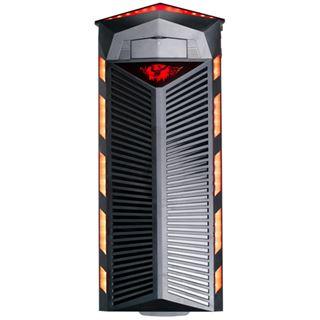 Delux SH891 Midi Tower ohne Netzteil schwarz/rot