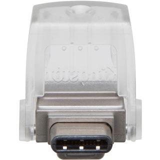64 GB Kingston DataTraveler microDuo silber USB 3.0 und Typ C