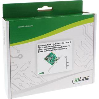 InLine 76660A 2 Port PCIe 2.0 x4 inkl. Low Profile Slotblech / Low