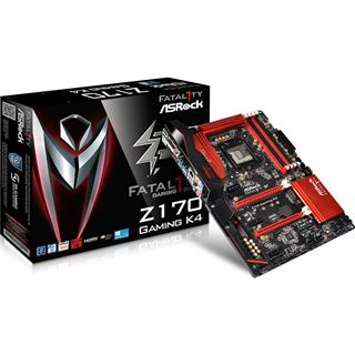 ASRock Fatal1ty Z170 Gaming K4 Intel Z170 So.1151 Dual Channel DDR4