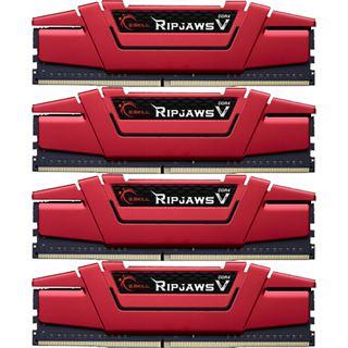 32GB G.Skill RipJaws V rot DDR4-2666 DIMM CL15 Quad Kit