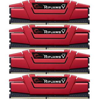 32GB G.Skill RipJaws V rot DDR4-2133 DIMM CL15 Quad Kit
