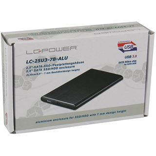 """LC-Power LC-25U3-7B-ALU 2.5"""" (6,35cm) USB 3. schwarz"""