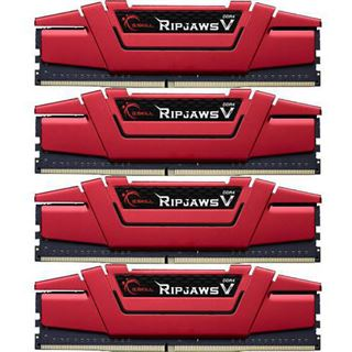 32GB G.Skill RipJaws V rot DDR4-2800 DIMM CL15 Quad Kit