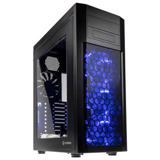 anidees AI8B mit Sichtfenster Big Tower ohne Netzteil schwarz