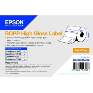 Epson Bopp HIGH Glosslabel 102x51mm 2770 labels