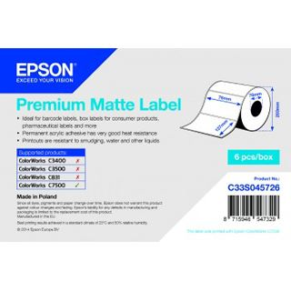 Epson Premium Matte Label 76x127mm