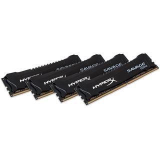 32GB HyperX Savage schwarz DDR4-2133 DIMM CL13 Quad Kit