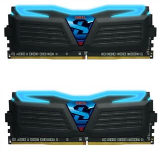 8GB GeIL Super Luce schwarz LED blau DDR4-3600 DIMM CL17 Dual Kit