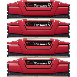 64GB G.Skill RipJaws V rot DDR4-2133 DIMM CL15 Quad Kit