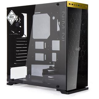 IN WIN 805 mit Sichtfenster Midi Tower ohne Netzteil schwarz/gold