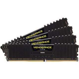 32GB Corsair Vengeance LPX schwarz DDR4-2400 DIMM CL16 Quad Kit