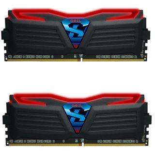 16GB GeIL Super Luce schwarz LED rot DDR4-3000 DIMM CL16 Dual Kit