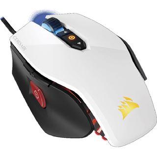 Corsair RGB Laser-Gaming-Maus M65 USB weiß (kabelgebunden)