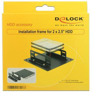 """Delock Einbaurahmen für 2x 2,5"""" HDDs Metall schwarz"""