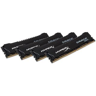 16GB HyperX Savage schwarz DDR4-2666 DIMM CL13 Quad Kit