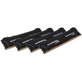 16GB HyperX Savage schwarz DDR4-2400 DIMM CL12 Quad Kit