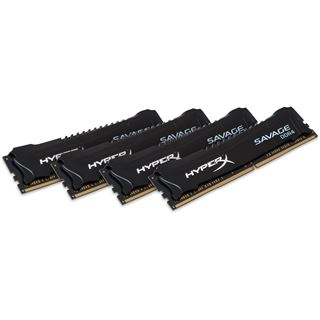32GB HyperX Savage schwarz DDR4-2400 DIMM CL12 Quad Kit