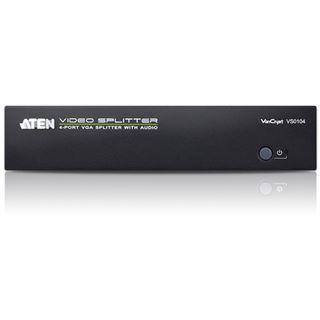 ATEN Technology VS0104 VGA-Splitter mit Audio, 4-fach, 450 MHz