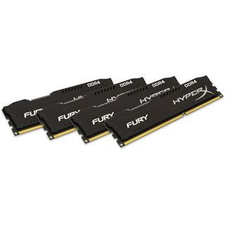 32GB HyperX FURY schwarz Single Rank DDR4-2133 DIMM CL14 Quad Kit