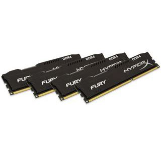 64GB HyperX FURY schwarz DDR4-2133 DIMM CL14 Quad Kit