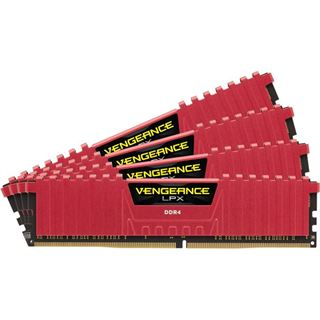 32GB Corsair Vengeance LPX rot DDR4-3600 DIMM CL18 Quad Kit