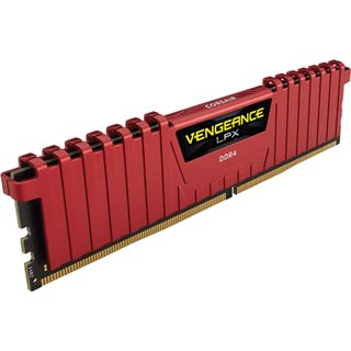 32GB Corsair Vengeance LPX rot DDR4-3466 DIMM CL16 Quad Kit
