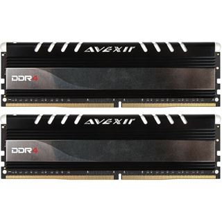 8GB Avexir Core Series yellow LED DDR4-2400 DIMM CL16 Dual Kit