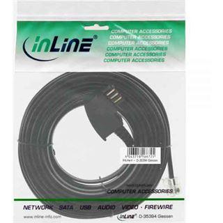 20.00m InLine TAE-N Verbindungskabel TAE-N Stecker auf RJ11 Stecker