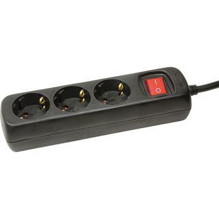 1.40m LogiLink Steckdosenleiste mit Schalter Schwarz 3 (LPS206B)