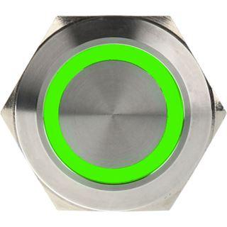 DimasTech Vandalismustaster 25mm - Silverline - grün