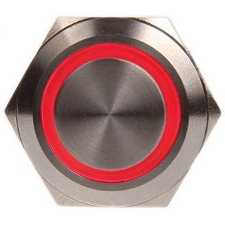 DimasTech Vandalismustaster 19mm - Silverline - rot