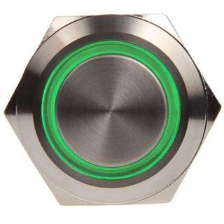 DimasTech Vandalismustaster 19mm - Silverline - grün