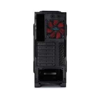 Rasurbo X6-U3 Midi Tower ohne Netzteil schwarz/rot