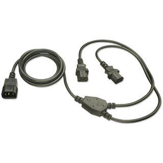 Lindy IEC Y-Stromversorgungskabel 1.90m