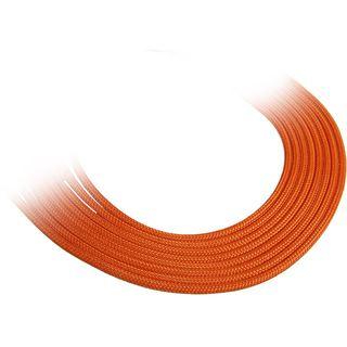 BitFenix 8-Pin PCIe Verlängerung 45cm - sleeved orange/schwarz