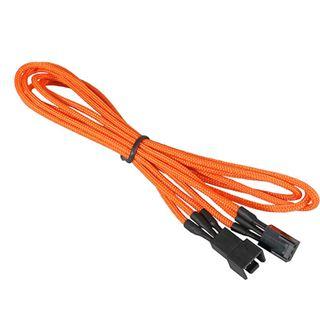 BitFenix 3-Pin Verlängerung 60cm - sleeved orange/schwarz