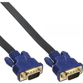 (€23,00*/1m) 0.30m InLine S-VGA Anschlusskabel VGA 15pol Stecker