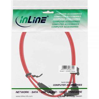 1.00m InLine SATA 3Gb/s gewinkelt SATA Stecker auf SATA Stecker