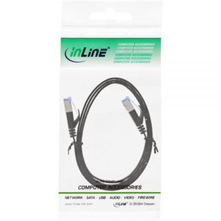 (€4,90*/1m) 1.00m InLine Cat. 6a Patchkabel flach U/FTP RJ45