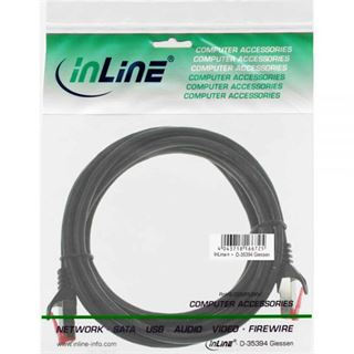 (€3,90*/1m) 1.00m InLine Cat. 6 Patchkabel S/FTP PiMF RJ45