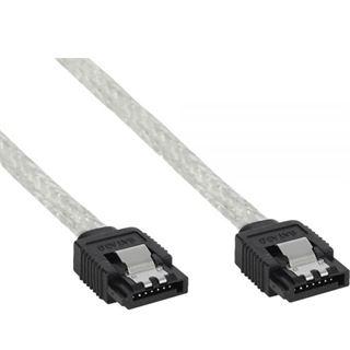 (€9,80*/1m) 0.50m InLine SATA 6Gb/s Anschlusskabel SATA Stecker