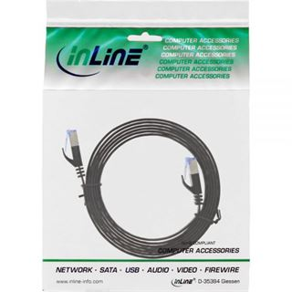 (€2,45*/1m) 2.00m InLine Cat. 6a Patchkabel flach U/FTP RJ45