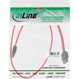 0.15m InLine SATA Anschlusskabel SATA Stecker auf SATA Stecker Rot