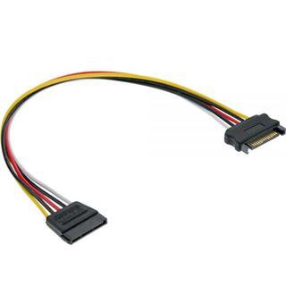 (€7,80*/1m) 0.50m InLine SATA Verlängerungskabel SATA Strom