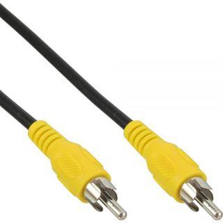 (€3,90*/1m) 1.00m InLine Video Anschlusskabel Cinch Stecker auf