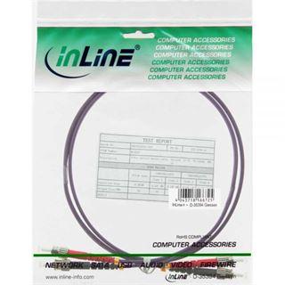 (€9,90*/1m) 1.00m InLine LWL Duplex Patchkabel 50/125 µm